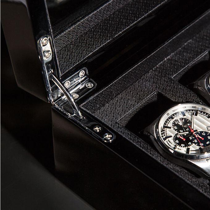 Matteo 5-Watch Box | Black Lacquer