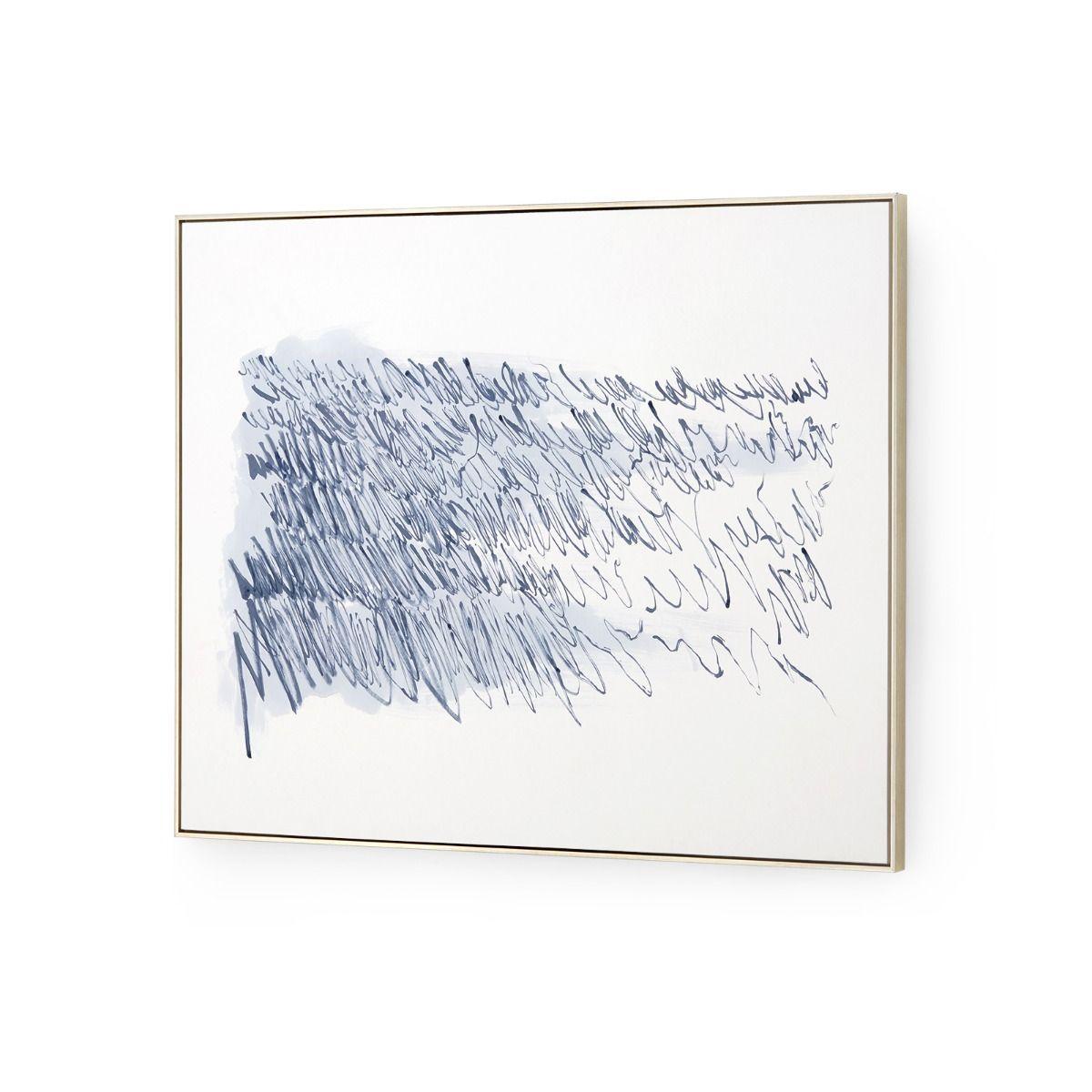 Poetic Musings Watercolor Art   Blue