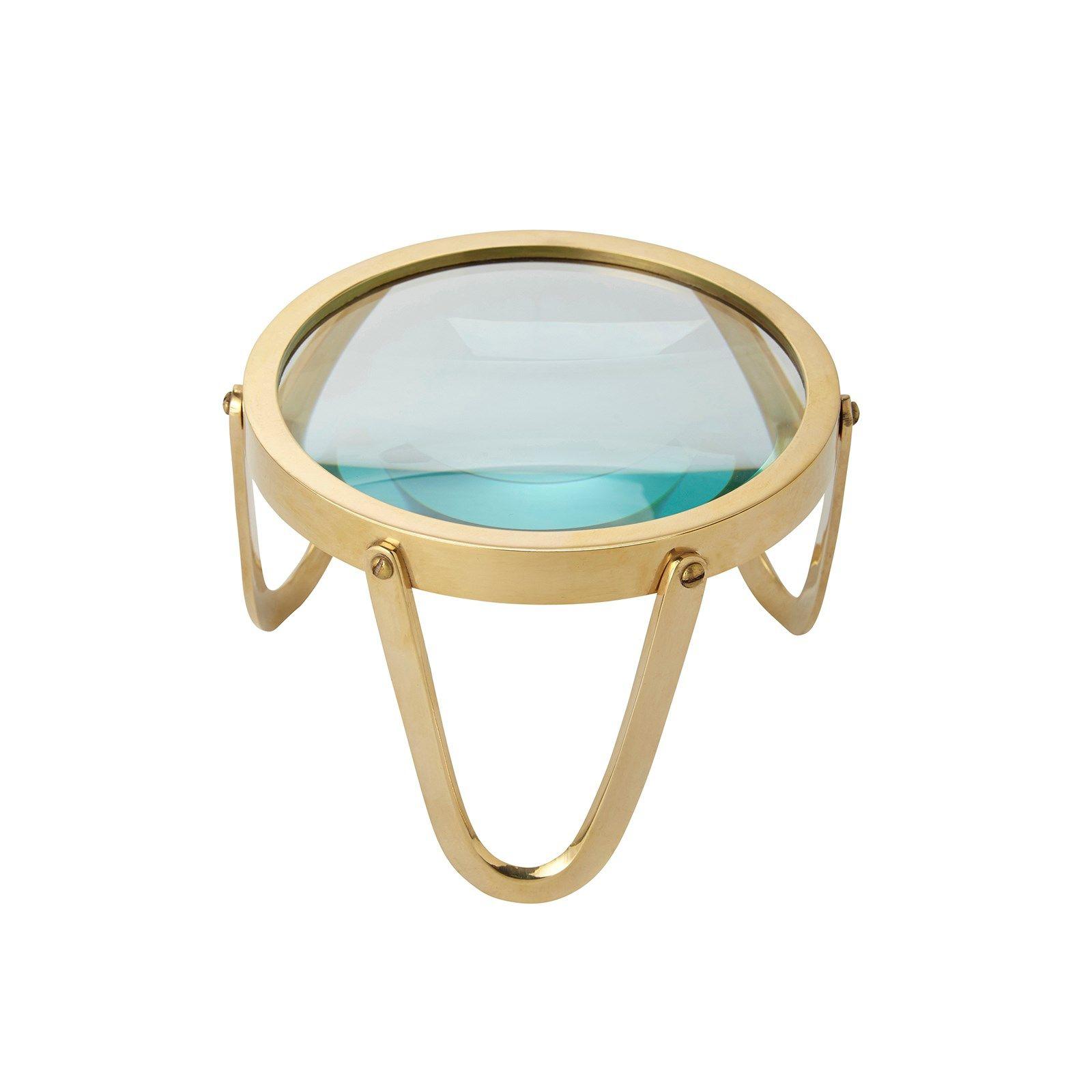 Idgar Standing Magnifier | Brass