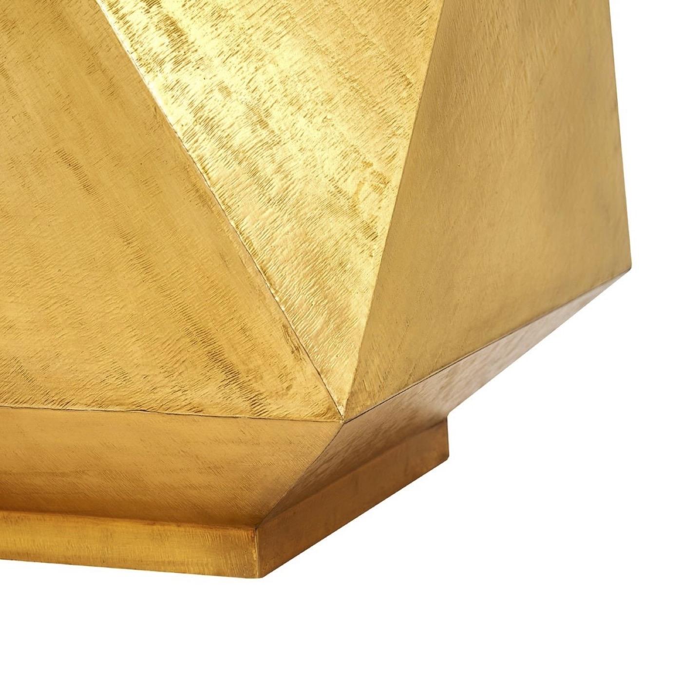 Lebron Brass Side Table