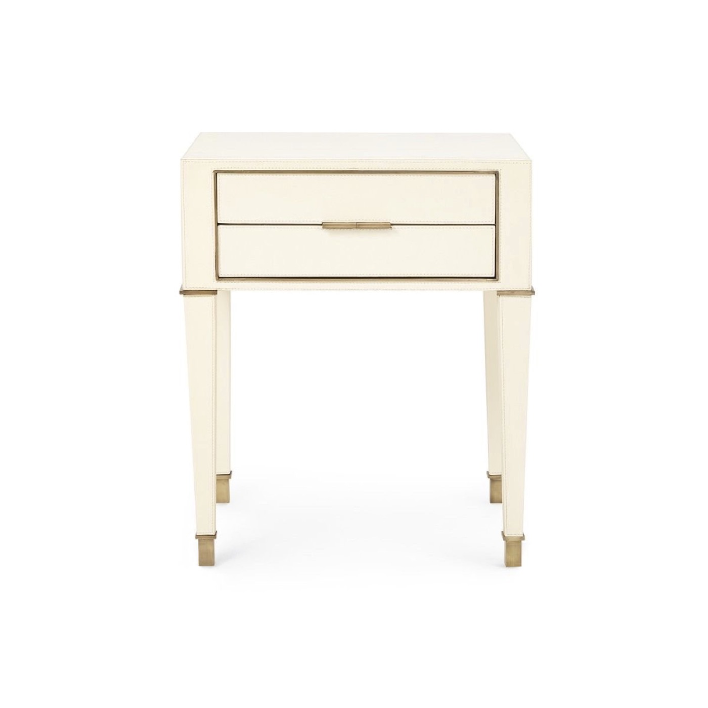 Spano 2-Drawer Side Table | Ivory