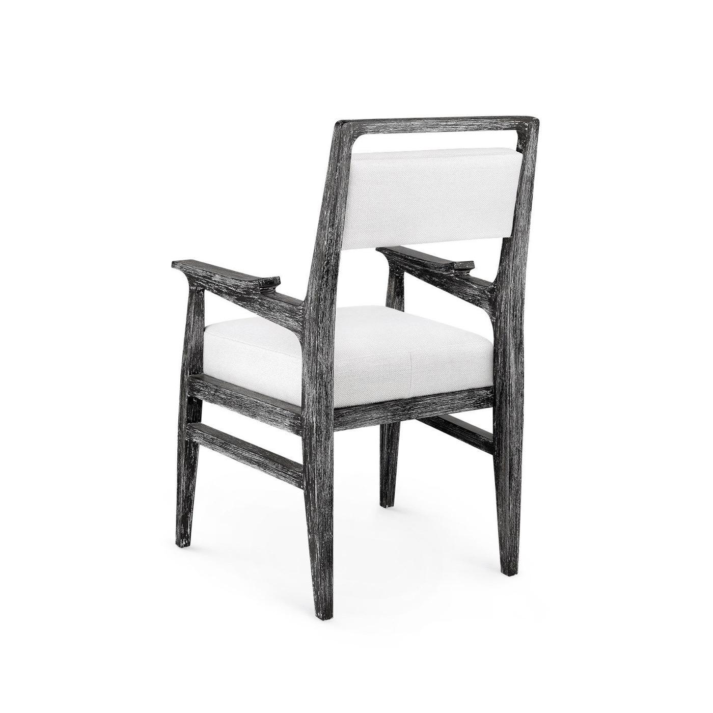 Hendrix Dining Arm Chair | Ebony