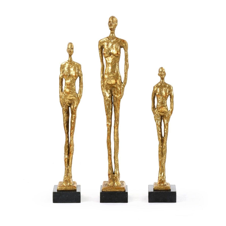 Femmes Gold Statues Set