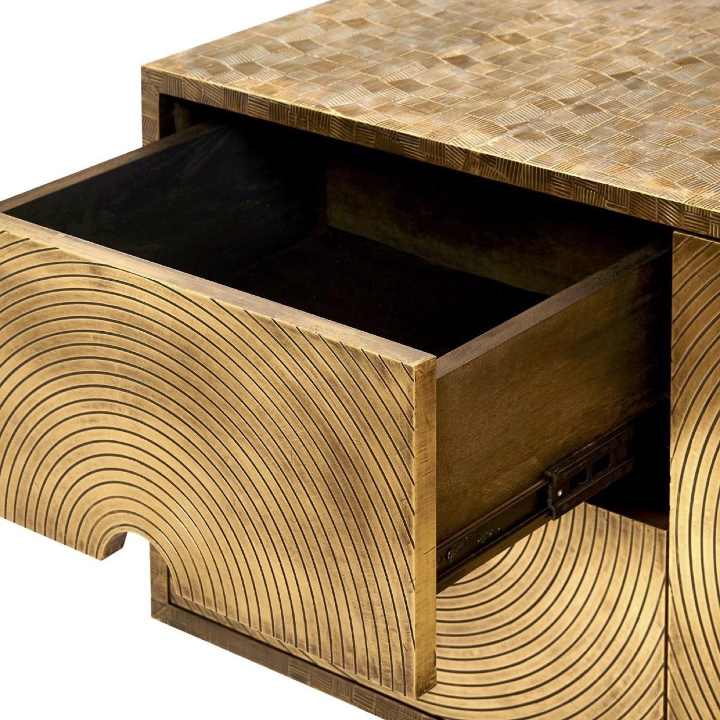 Grammer Metal Clad Cabinet   Bronzed Brass