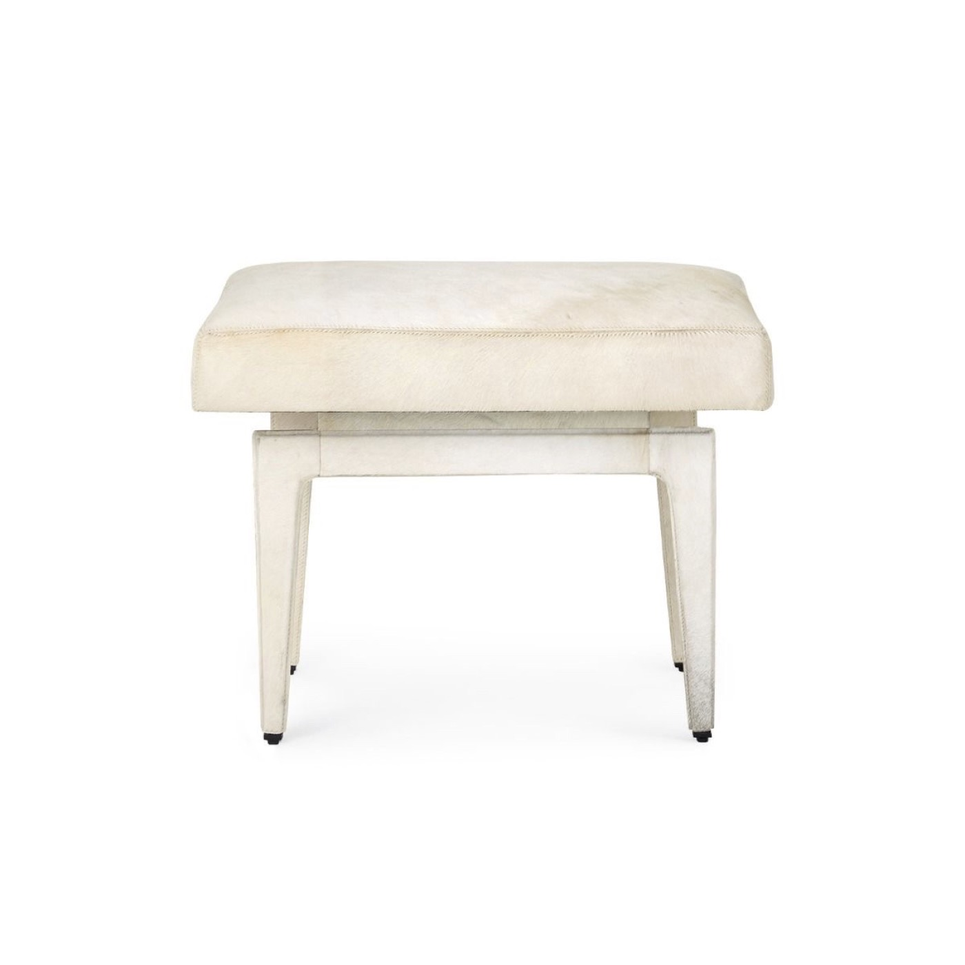 Churchill Hide Stool | Off-White