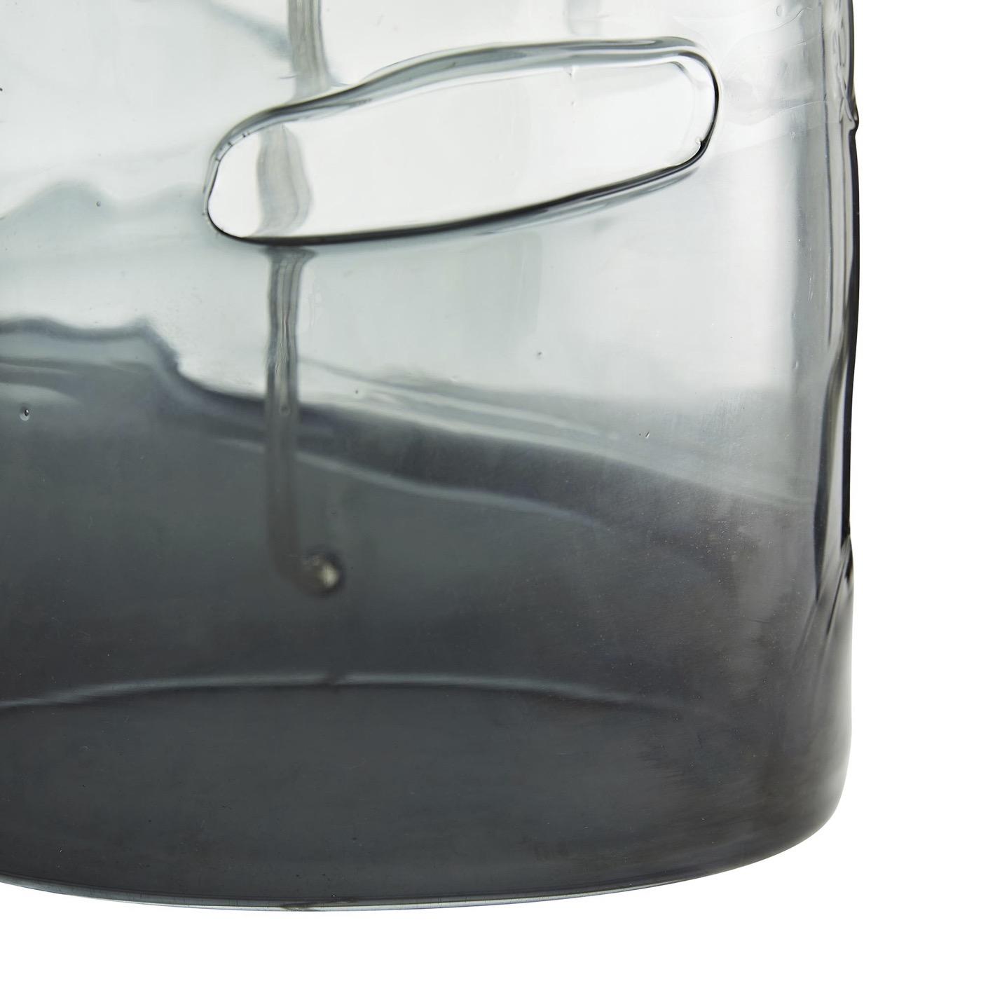 Saturn Grey Glass Table Lamp