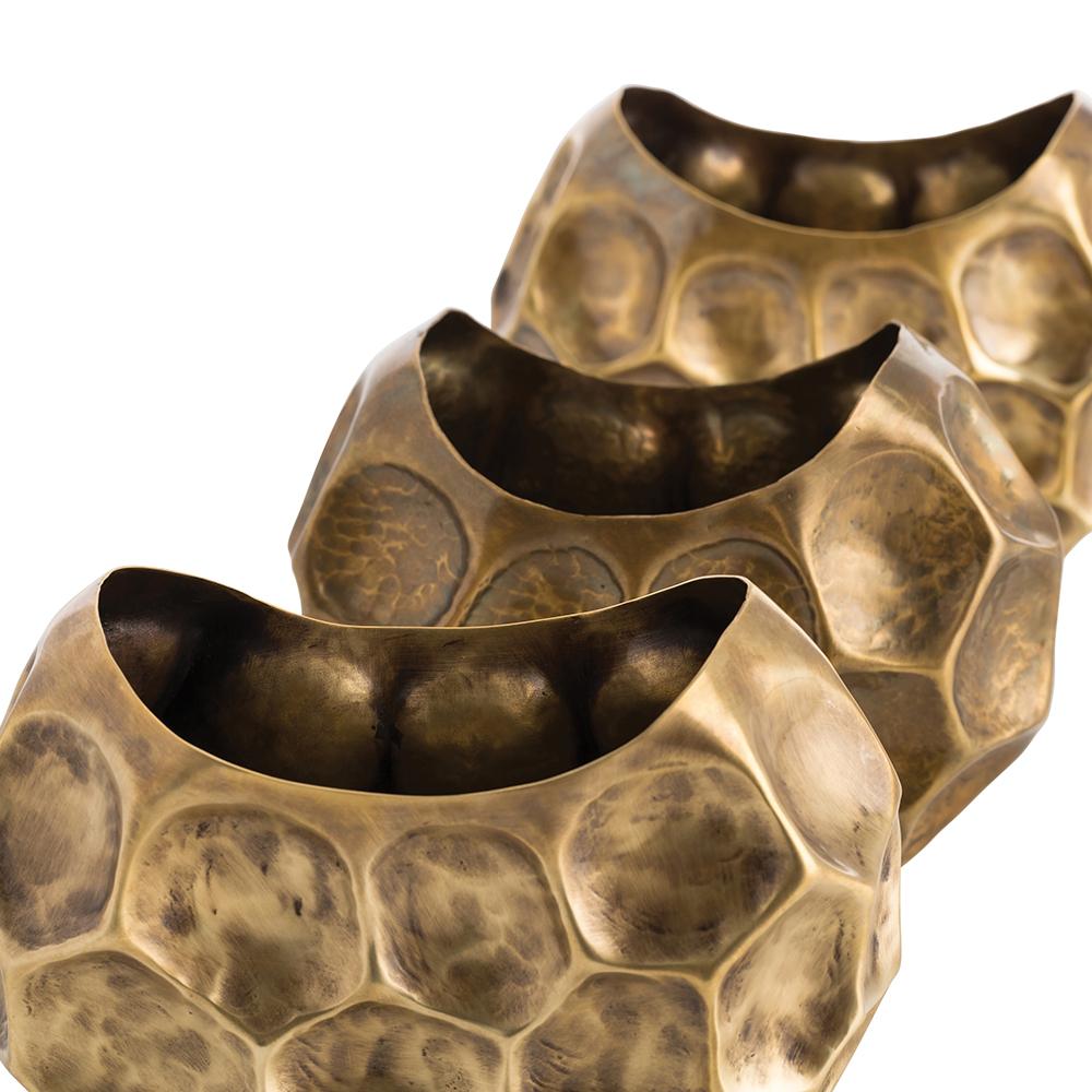 North Brass Vases Set