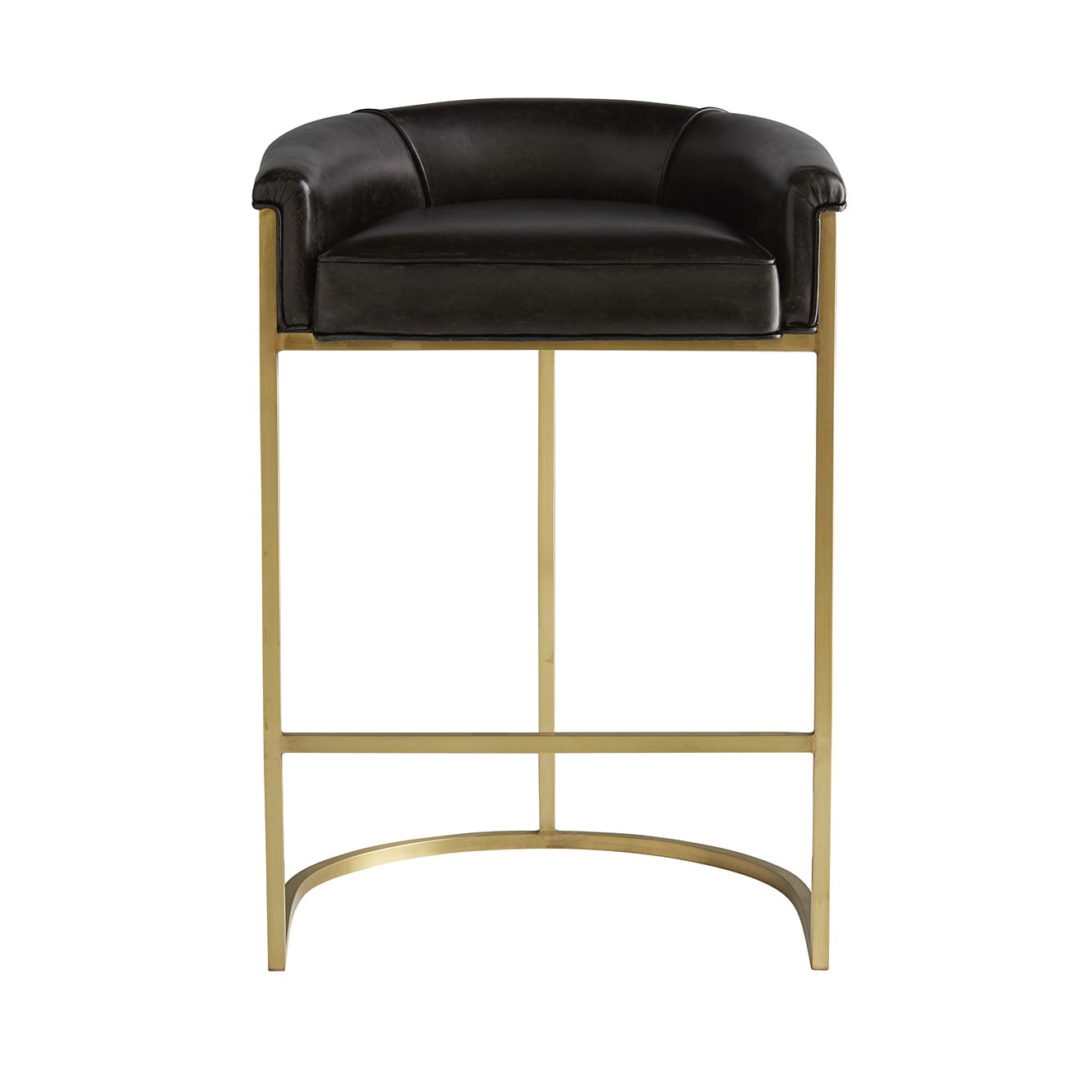 Klein Leather Bar Stool | Brown