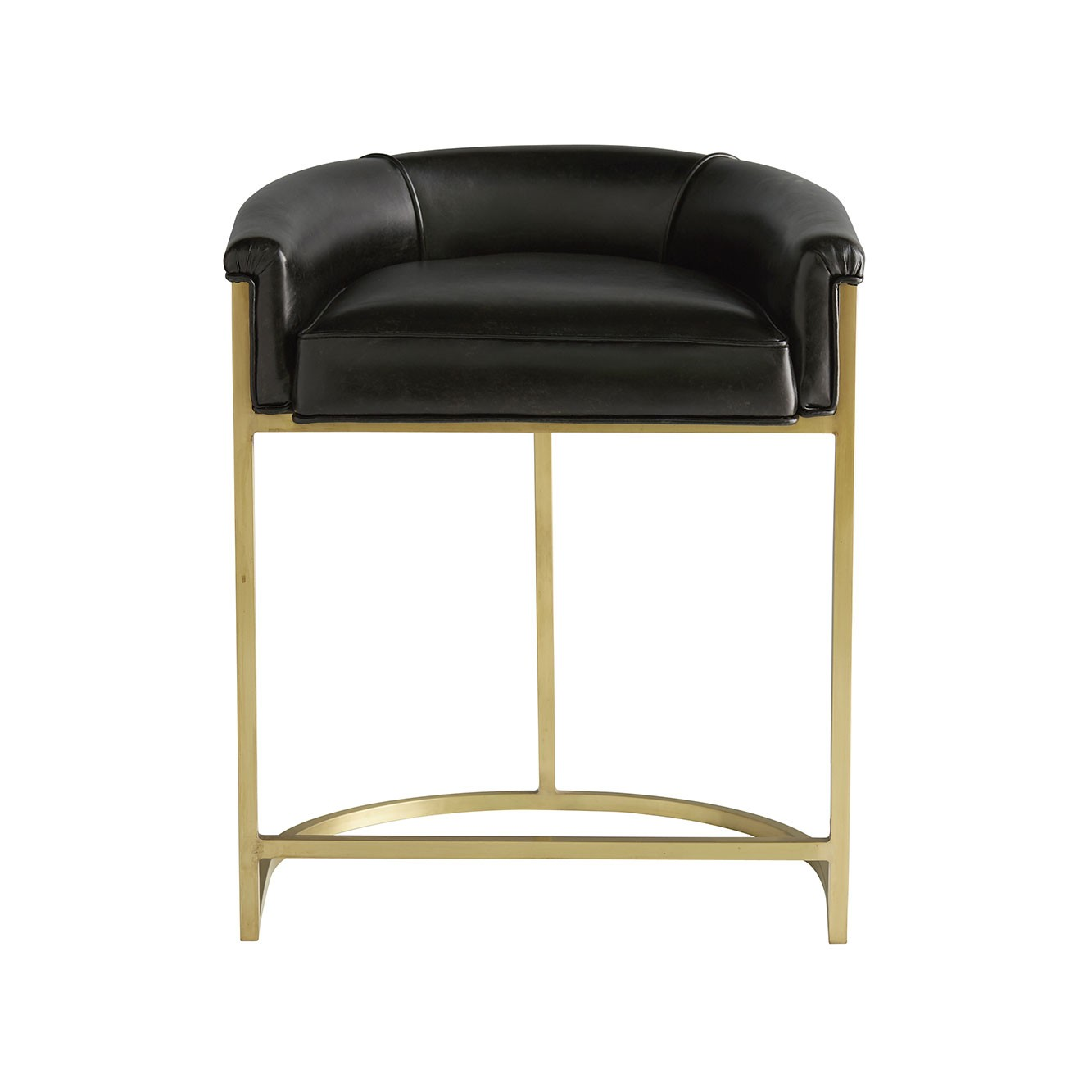 Klein Leather Counter Stool   Brown