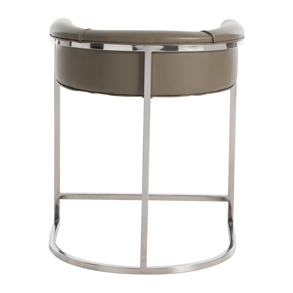 Klein Leather Counter Stool | Grey