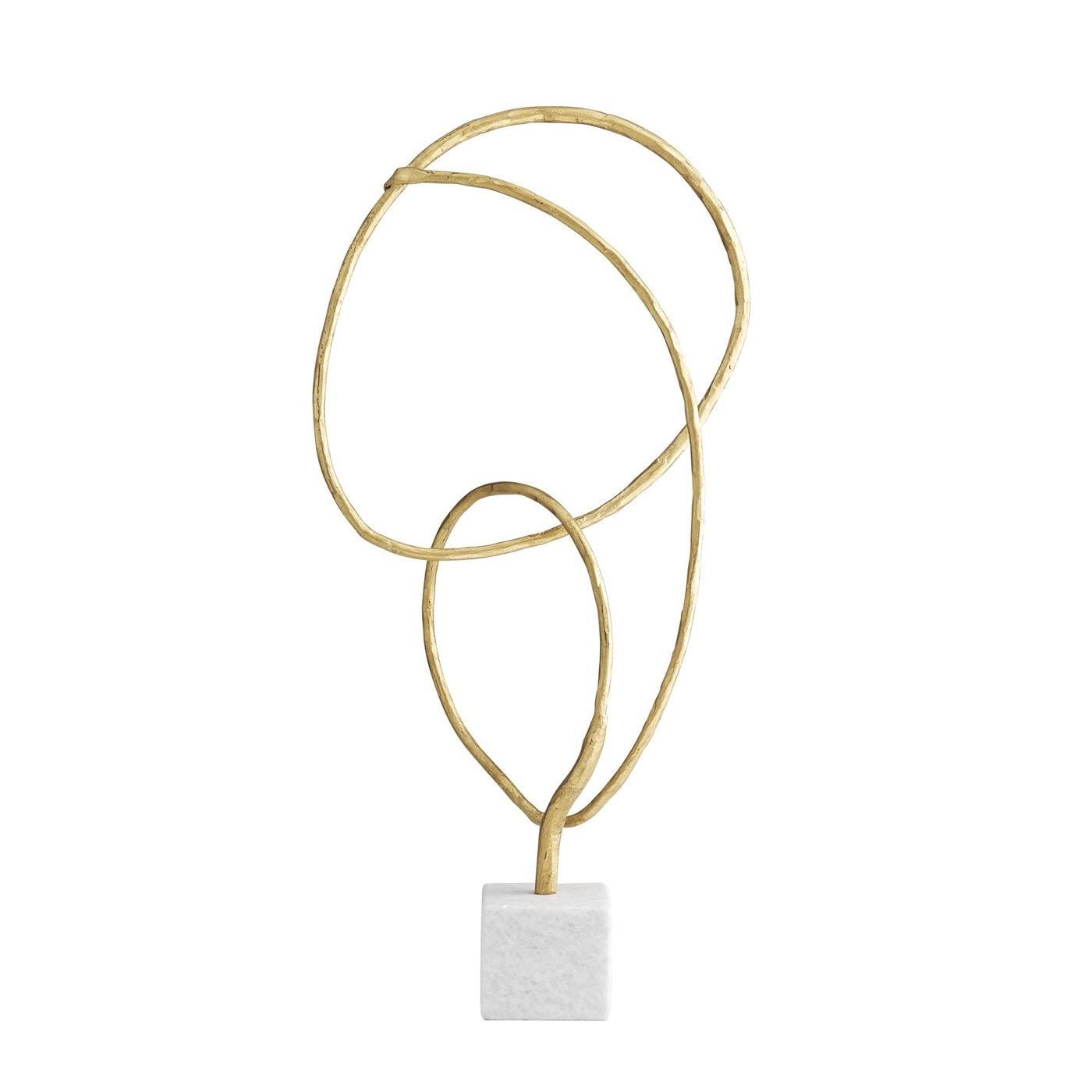 Looper Iron Sculpture | Gold