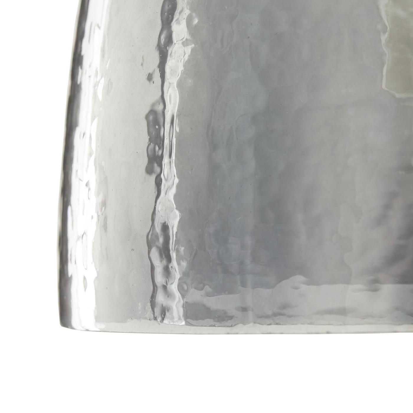 Zaro Glass Pendant   Smoke
