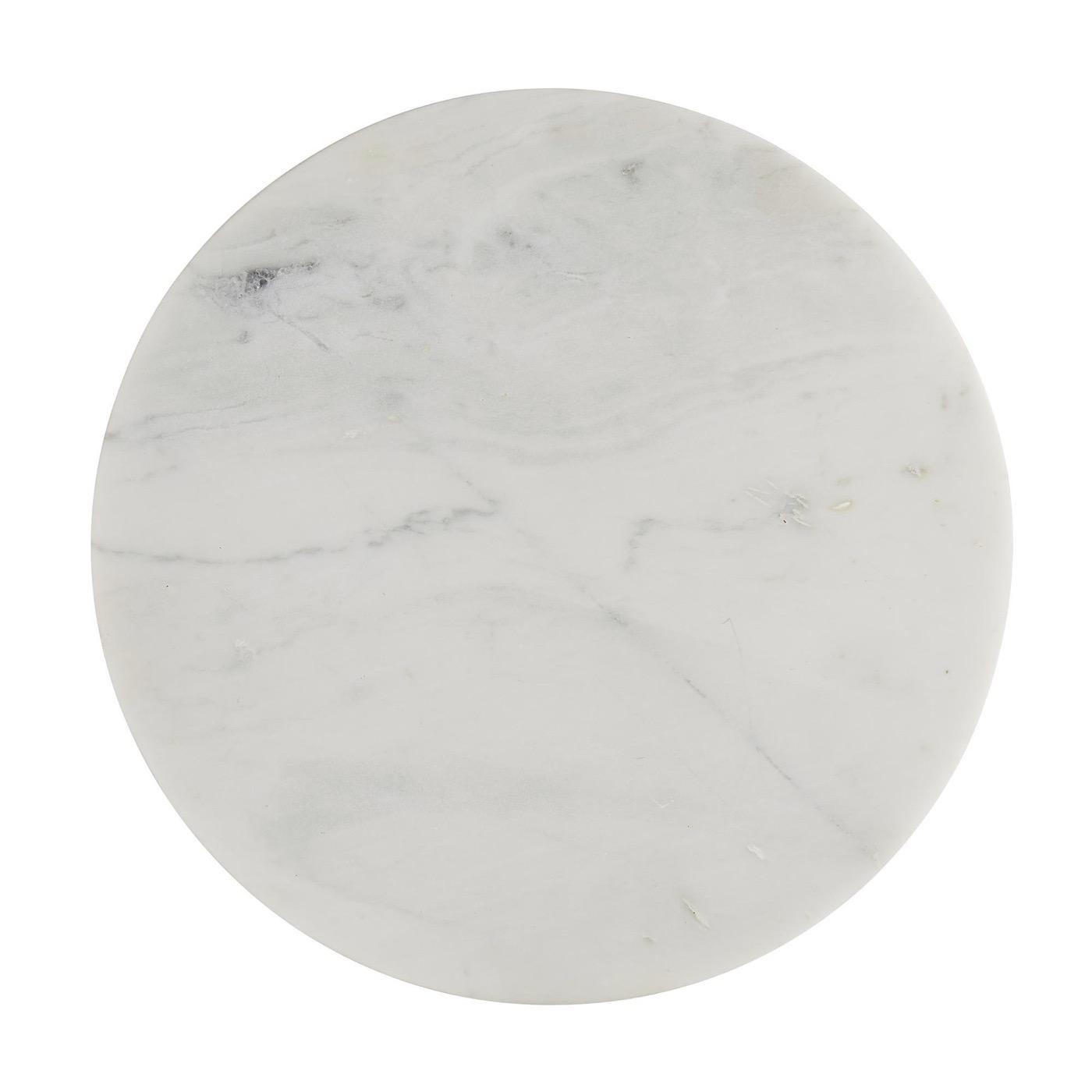 Apollo Short Side Table | White Marble