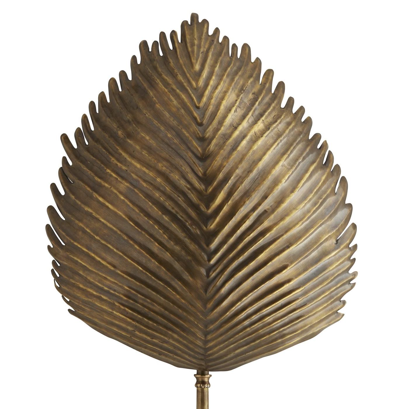 Tropico Brass Leaf Sconce