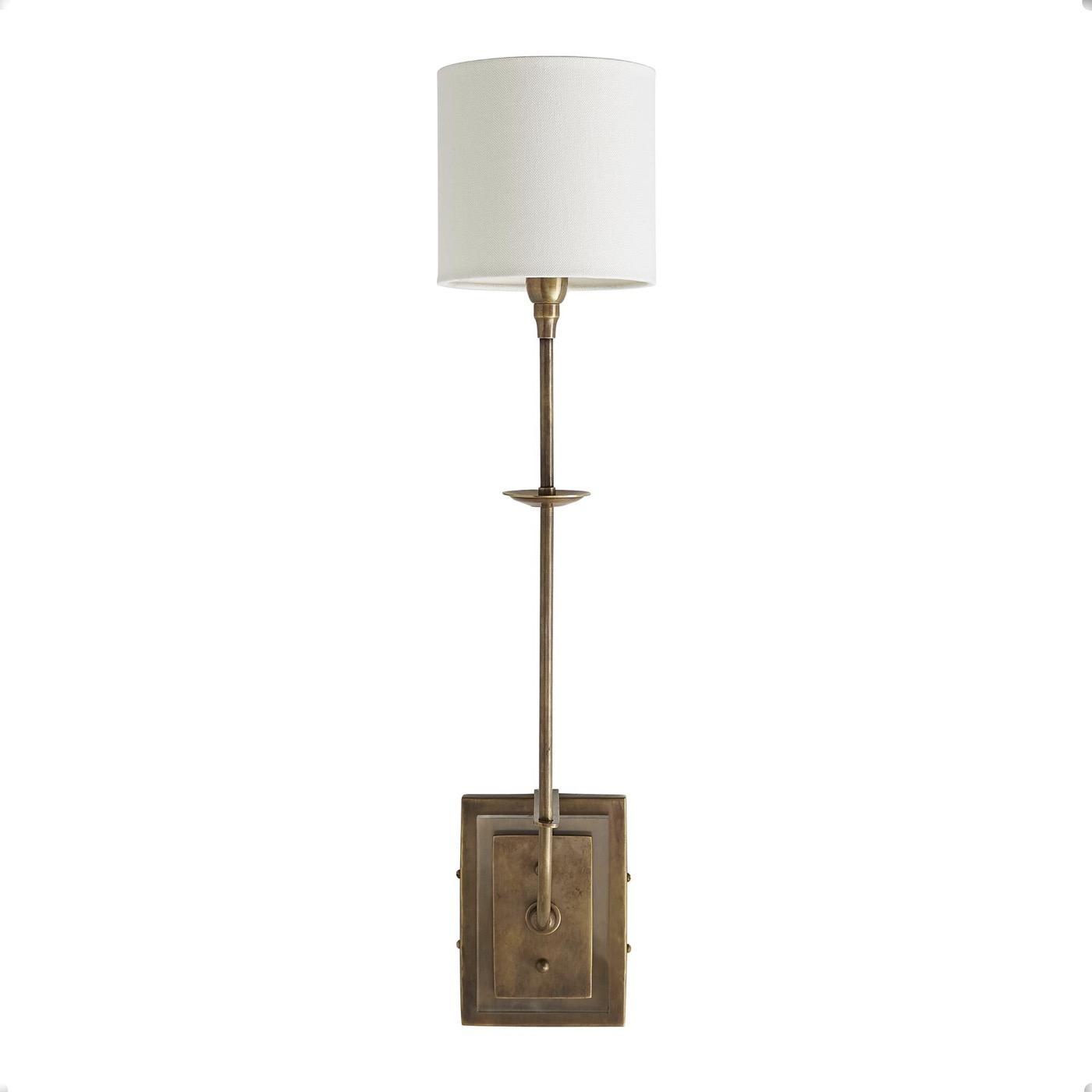 Curie Sconce | Brass & Lucite