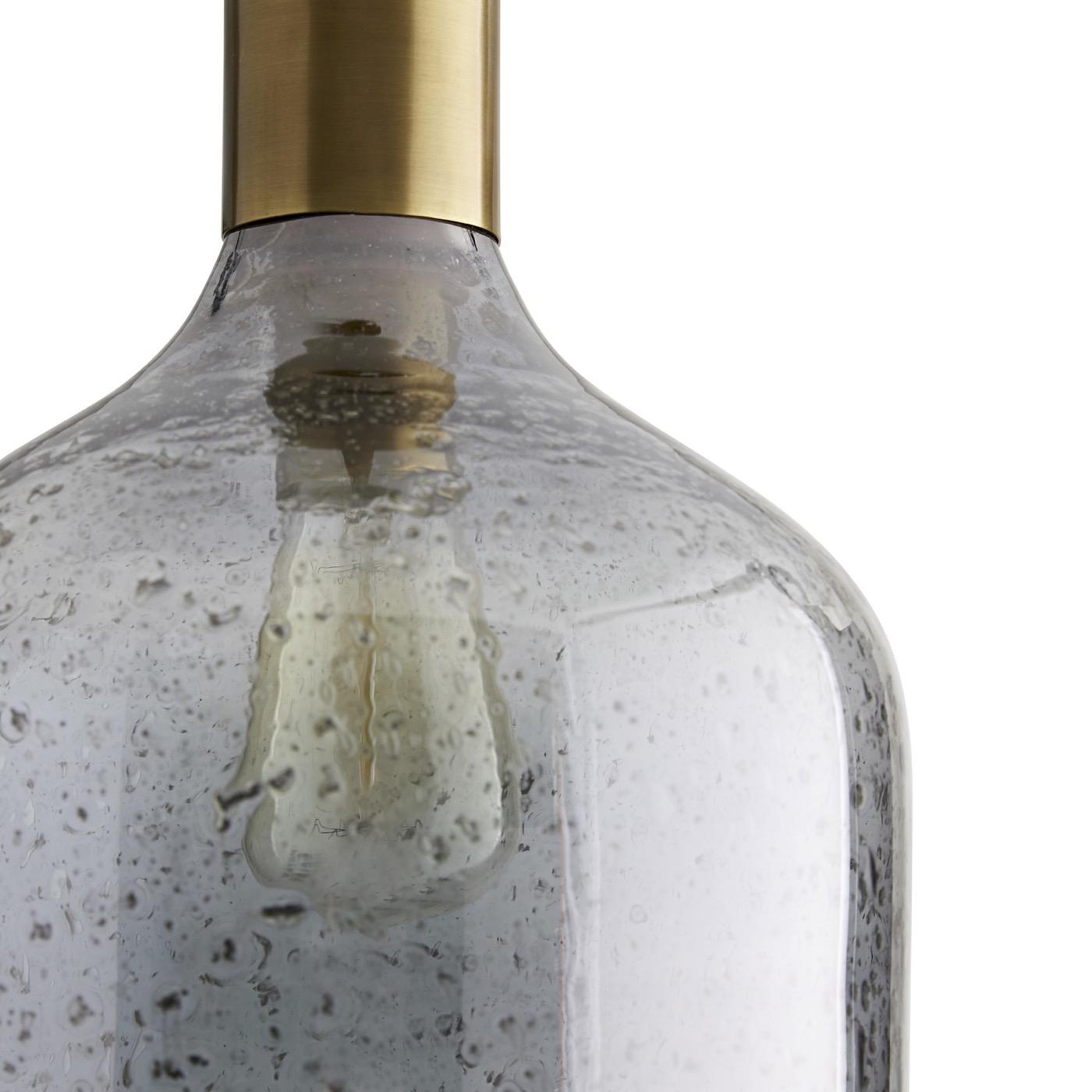 Maureen Blue Glass Pendant | Cloche
