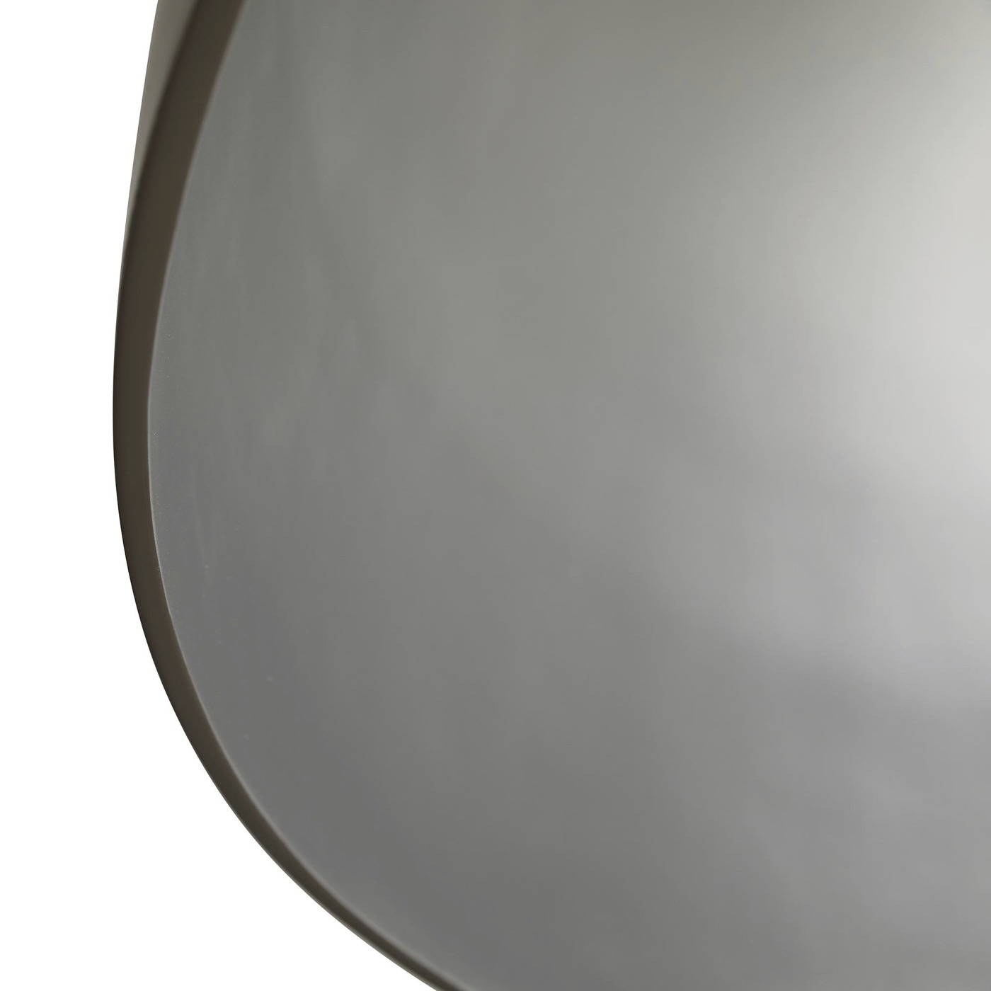 Rhys Dome Pendant   Taupe & Silver