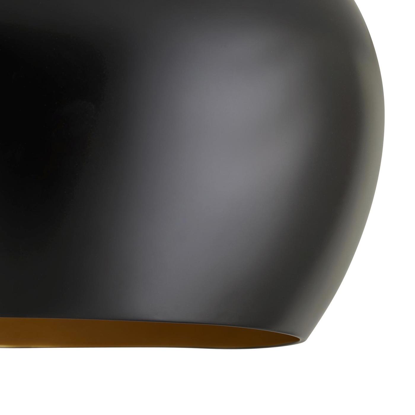 Rhys Dome Pendant | Black & Gold