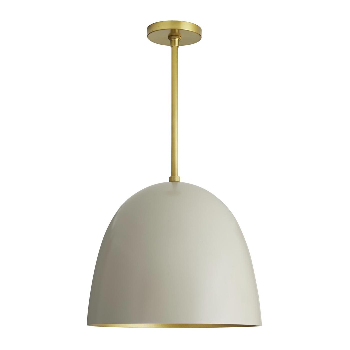 Rhys Petite Dome Pendant | White & Gold