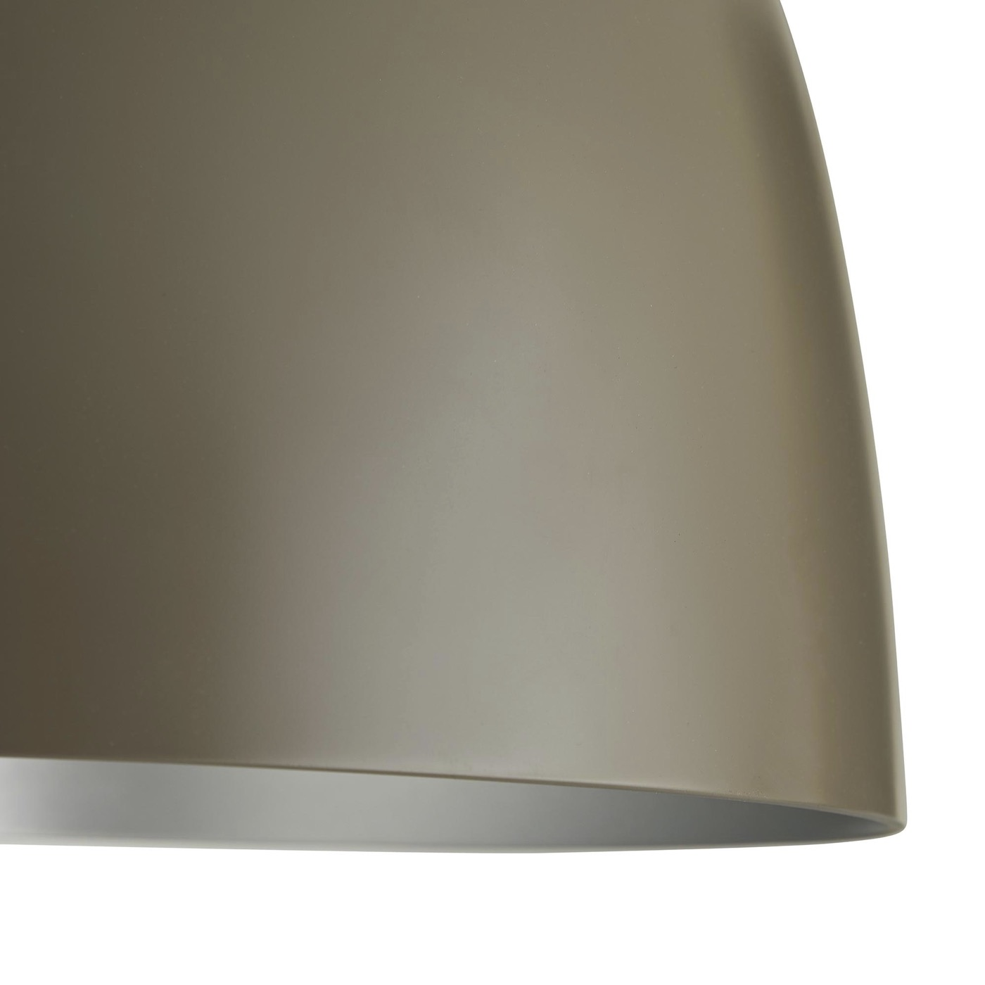Rhys Petite Dome Pendant | Taupe & Silver