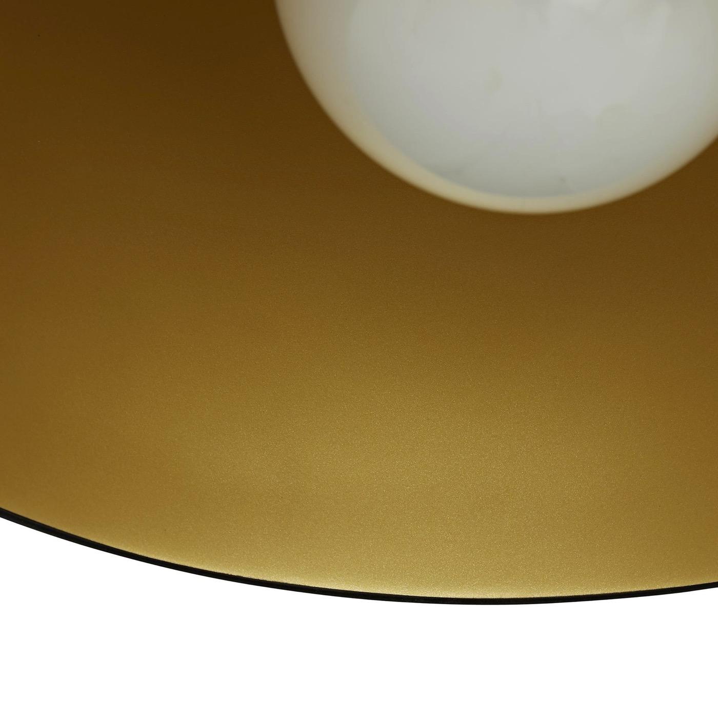 Rhys Petite Dome Pendant | Black & Gold
