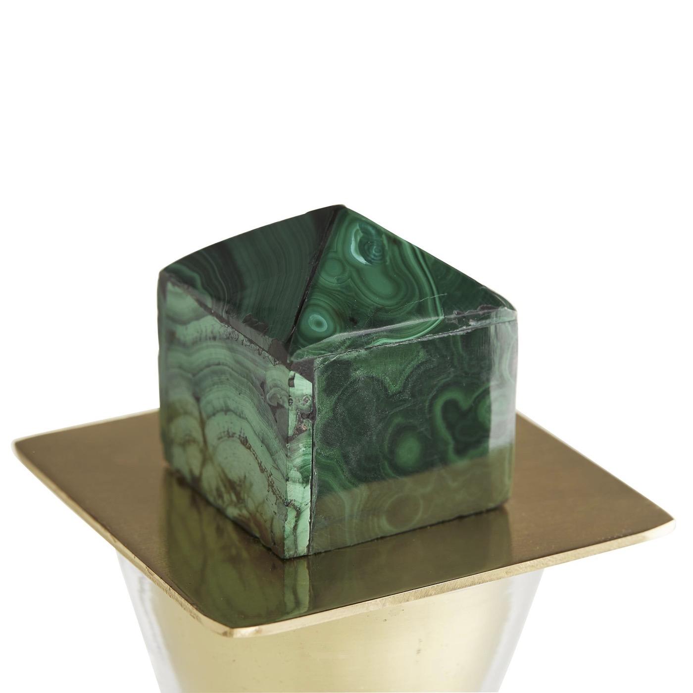 Bella Decanter | Malachite & Brass