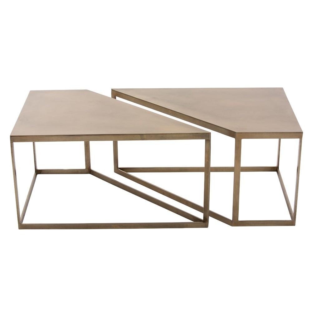 Bartlett Coffee Table Set | Brass