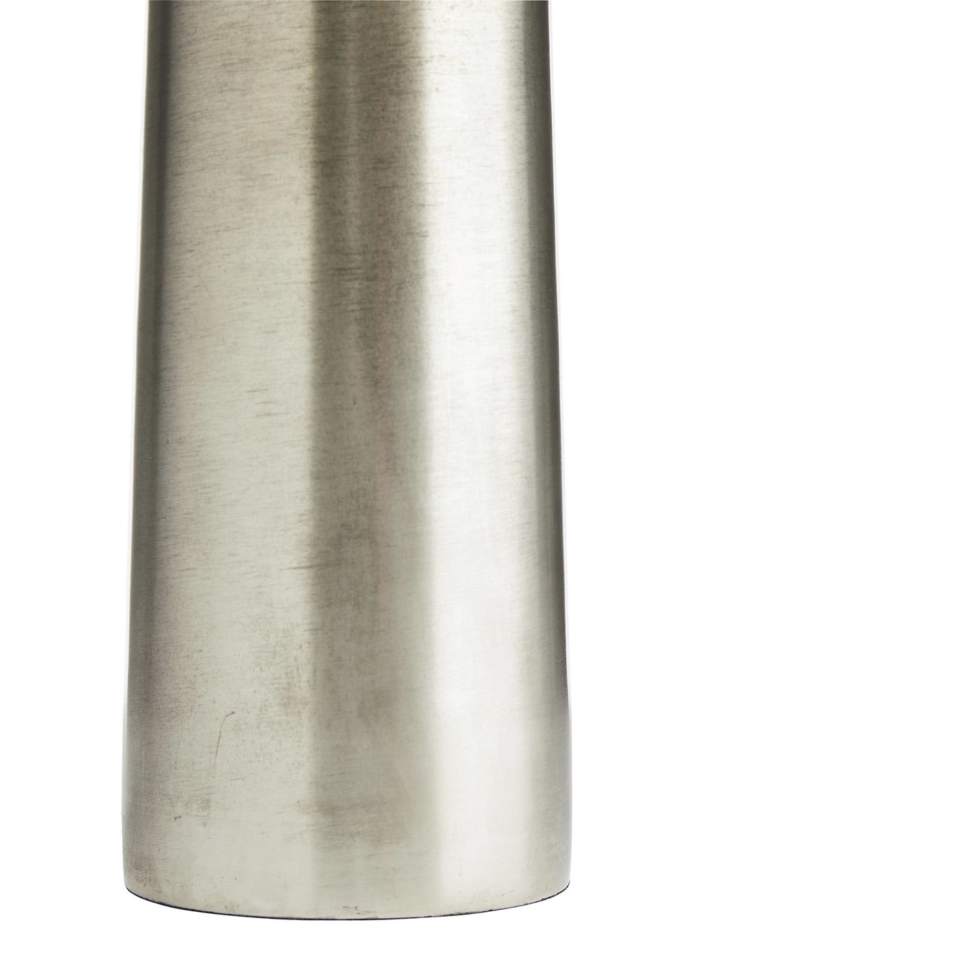 Greer Slender Metal Vase | Antique Silver