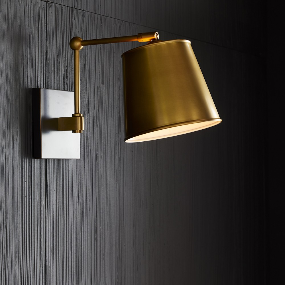 Maury Sconce   Antique Brass