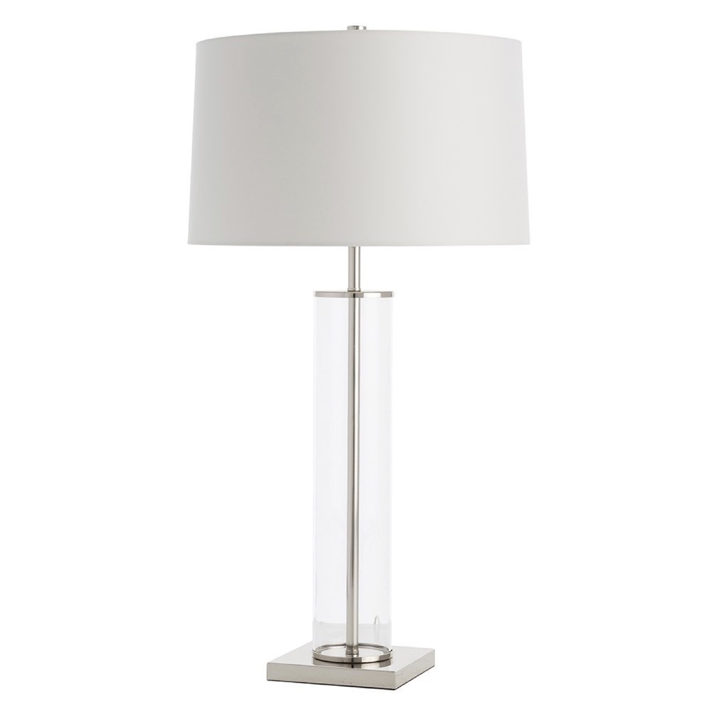 Rockwell Glass Table Lamp | Nickel