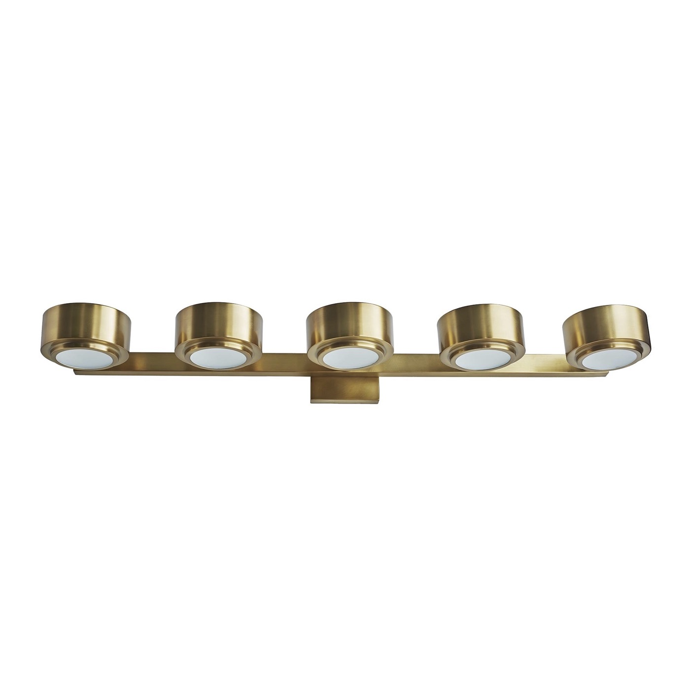 Von 5-Light Vanity Fixture | Antique Brass