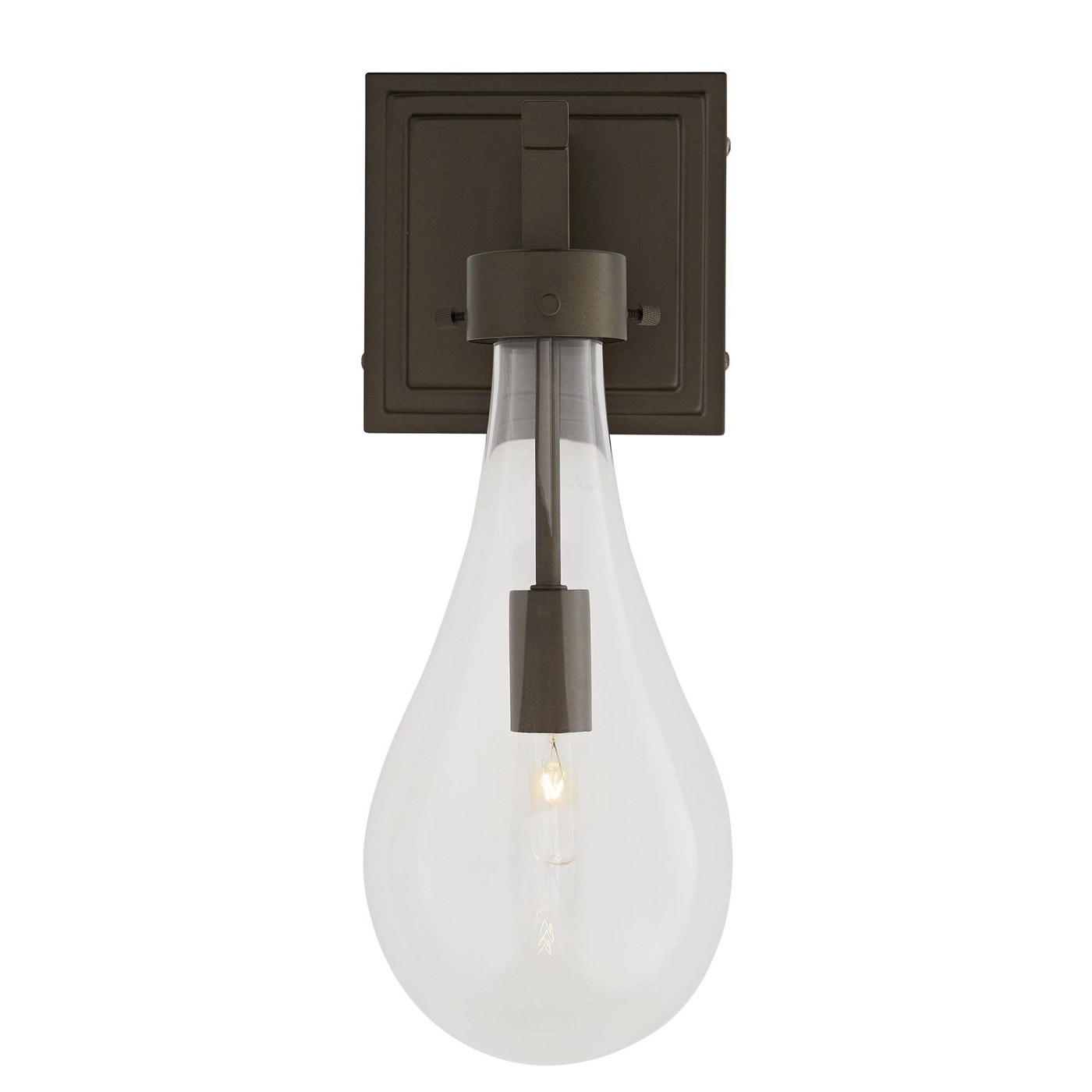 Edison Outdoor Sconce | Dark Brass