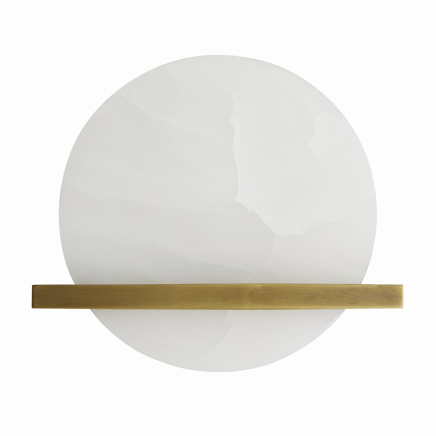 Massino White Onyx Sconce