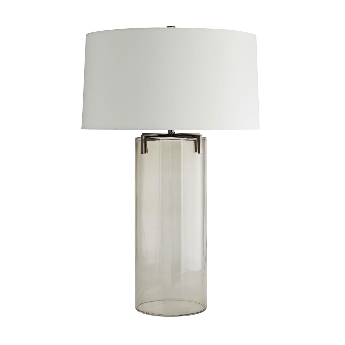 Vane Glass Table Lamp | Brown Nickel
