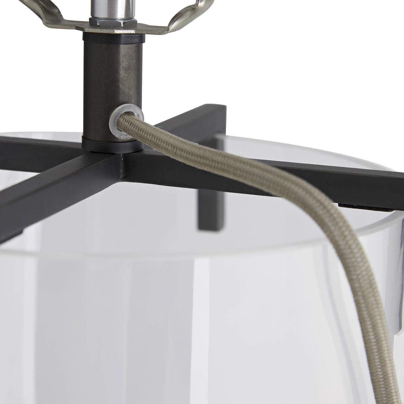 Vane Glass Table Lamp | Bronze