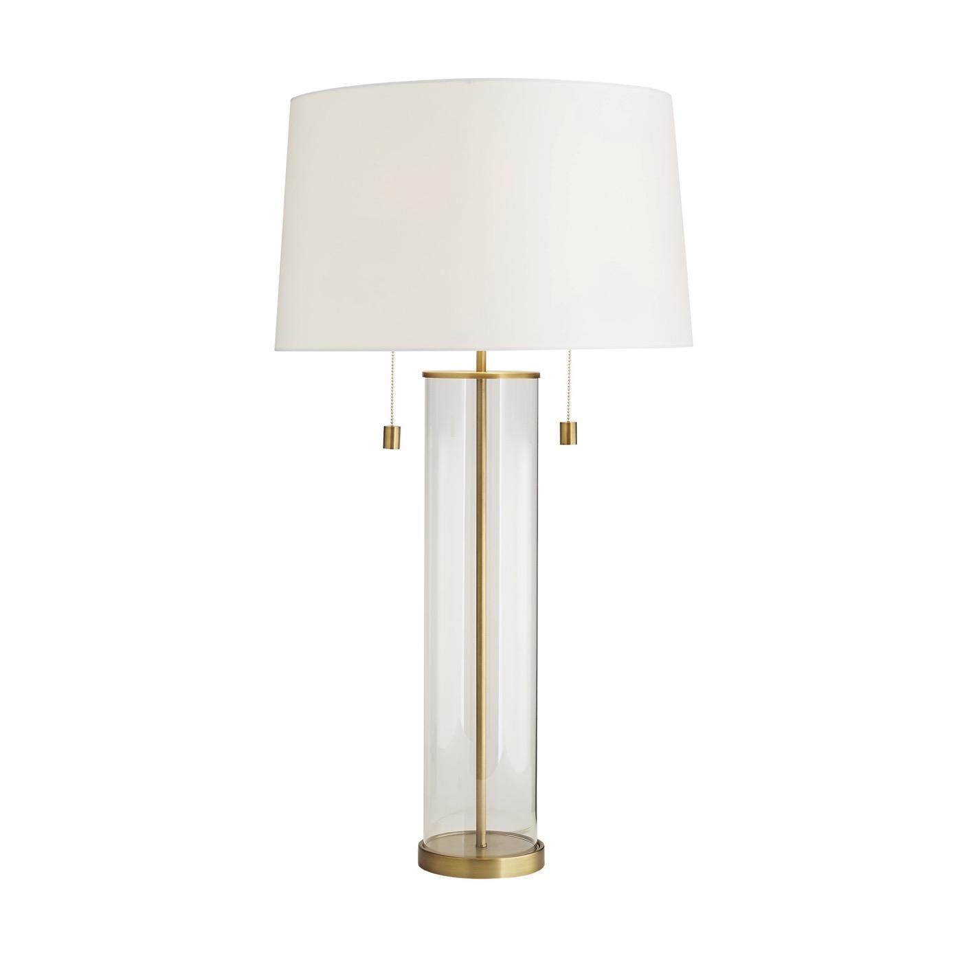 Augusta Glass Table Lamp   Brass