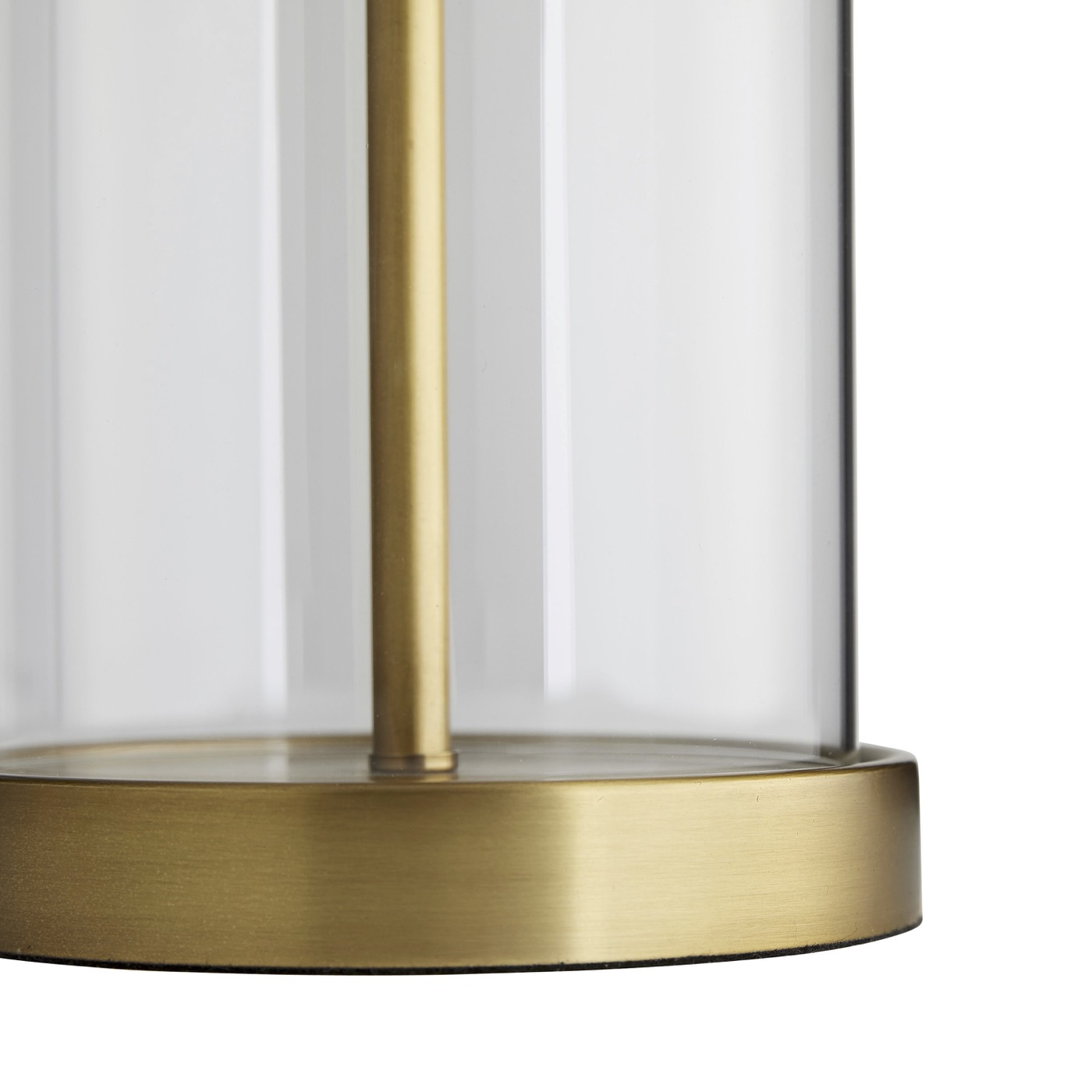 Augusta Glass Table Lamp | Brass