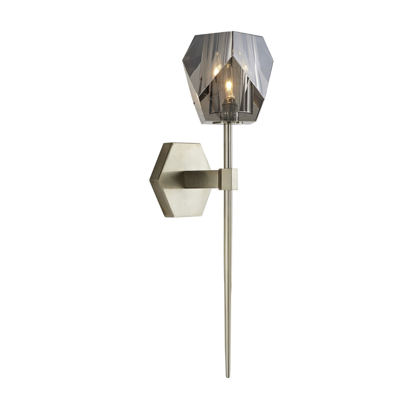 Carat Crystal Sconce | Silver