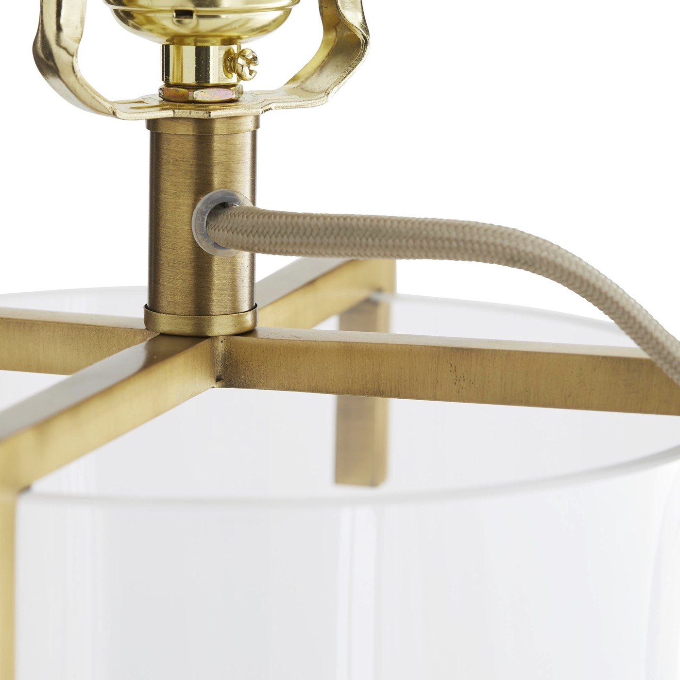Vane Glass Table Lamp | Brass
