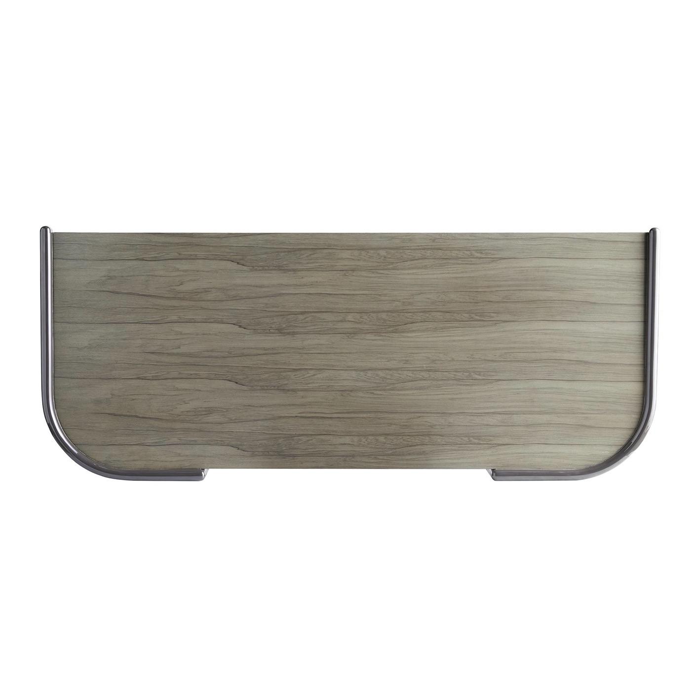Afara Two-Tone Curved Desk