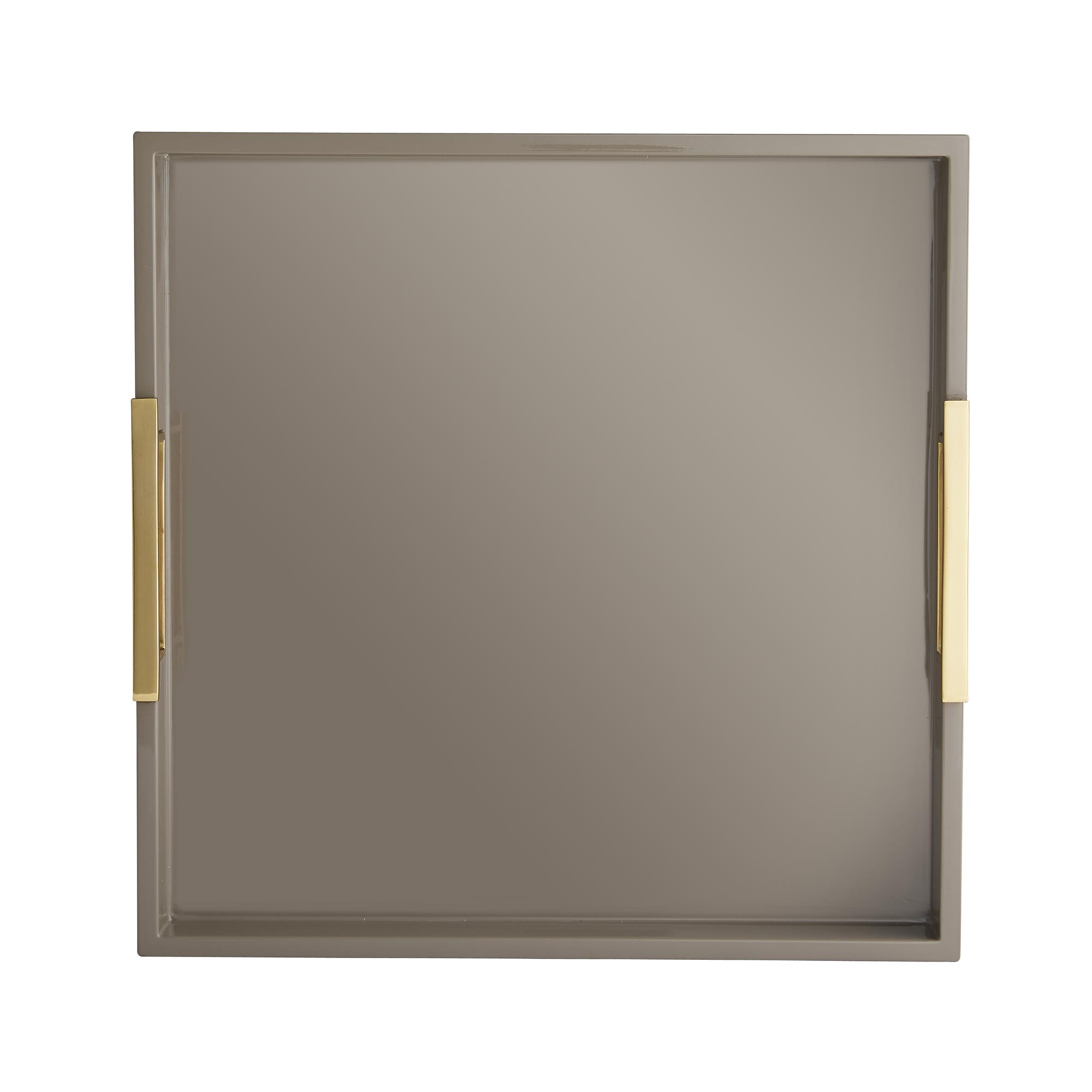 Louise Laquered Tray | Taupe