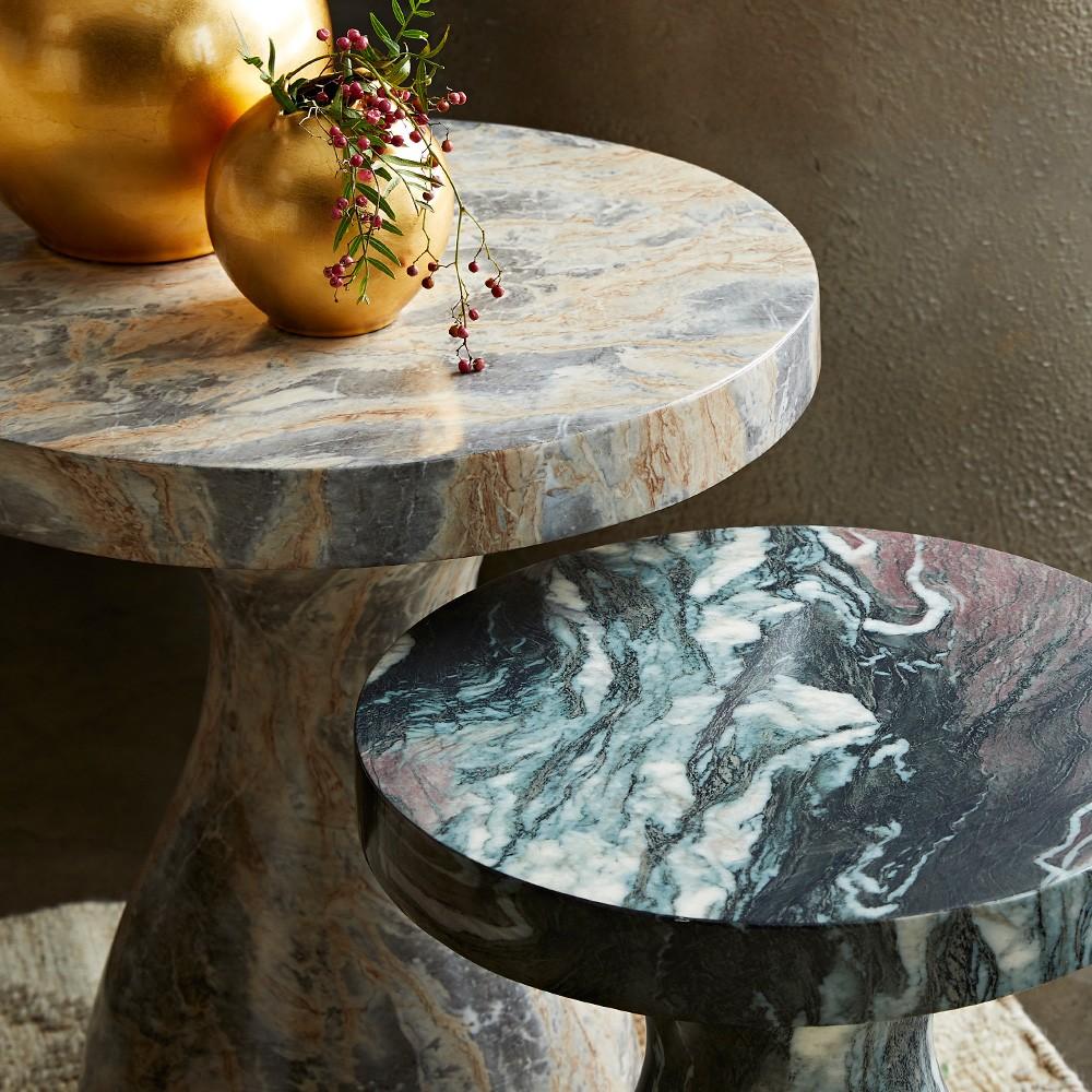 """Katina Short """"Marble"""" Side Table"""