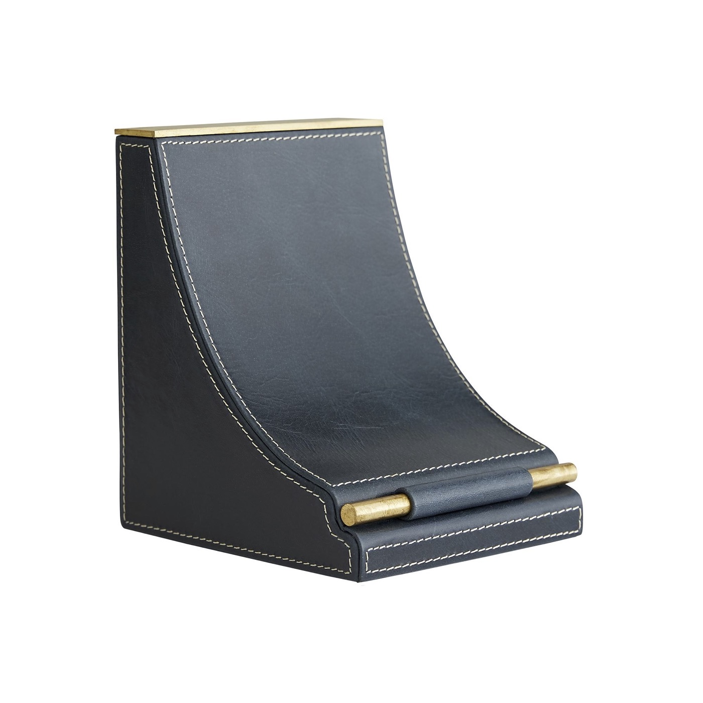 Mackley Leather Bookends