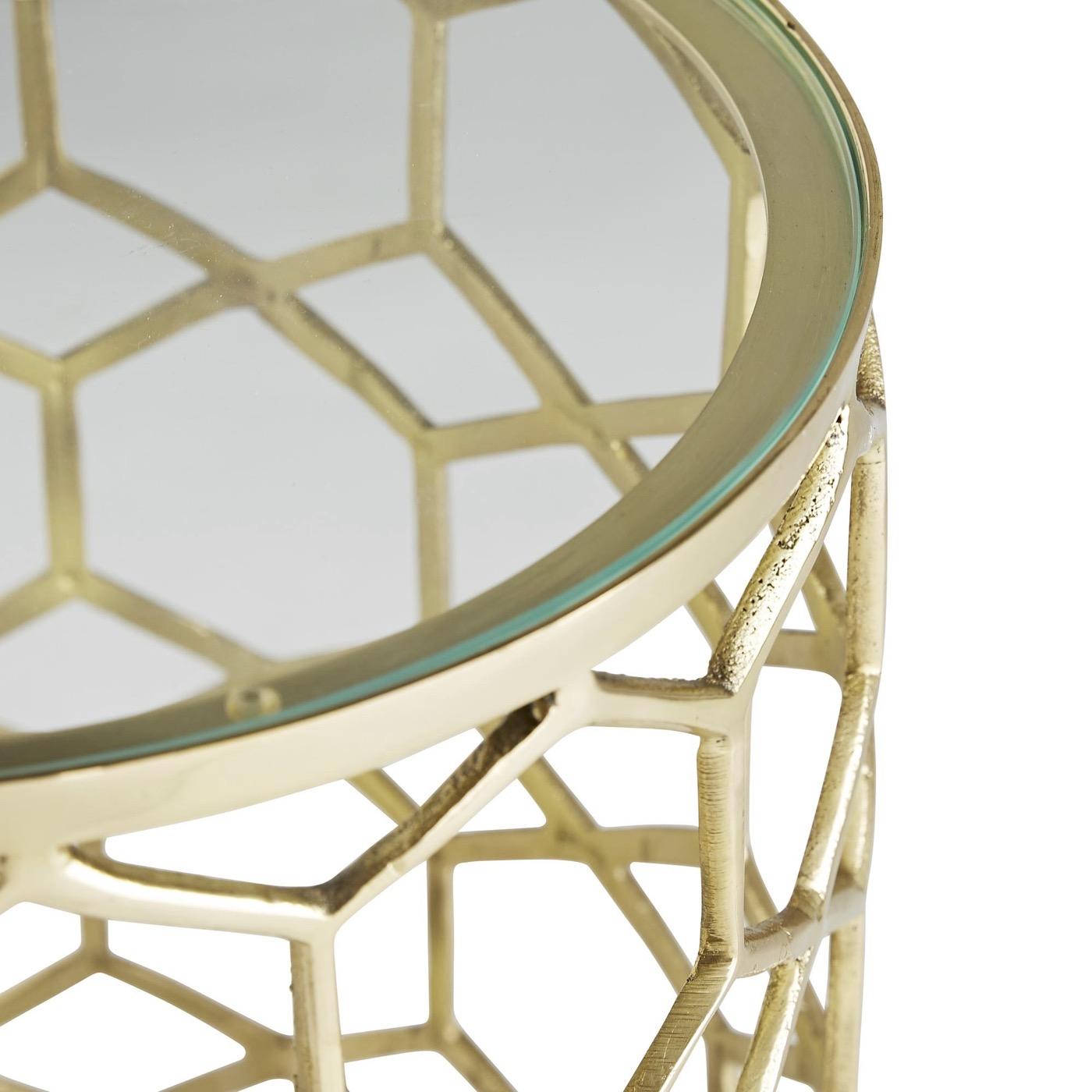 Lombardy Brass Side Table