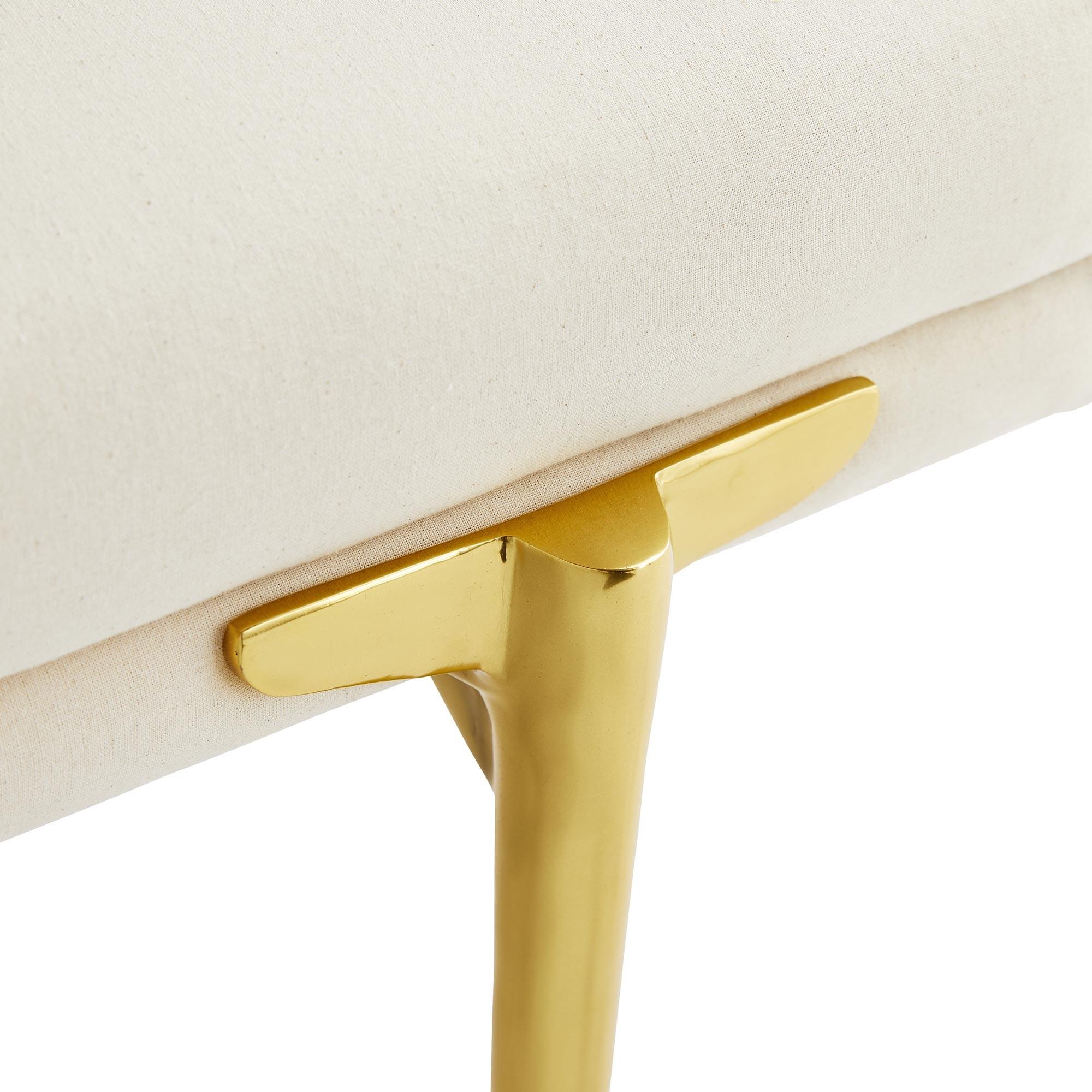 Heidi Brass Bench | Muslin