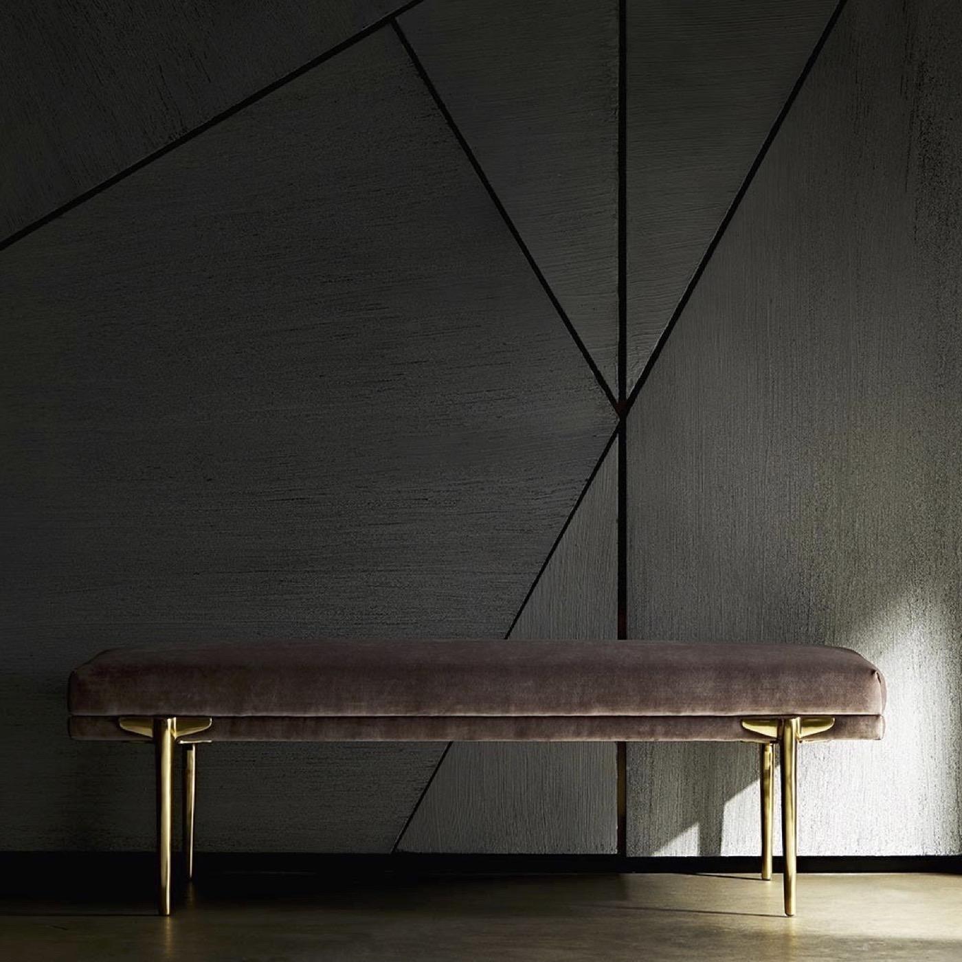 Heidi Brass Bench | Blush