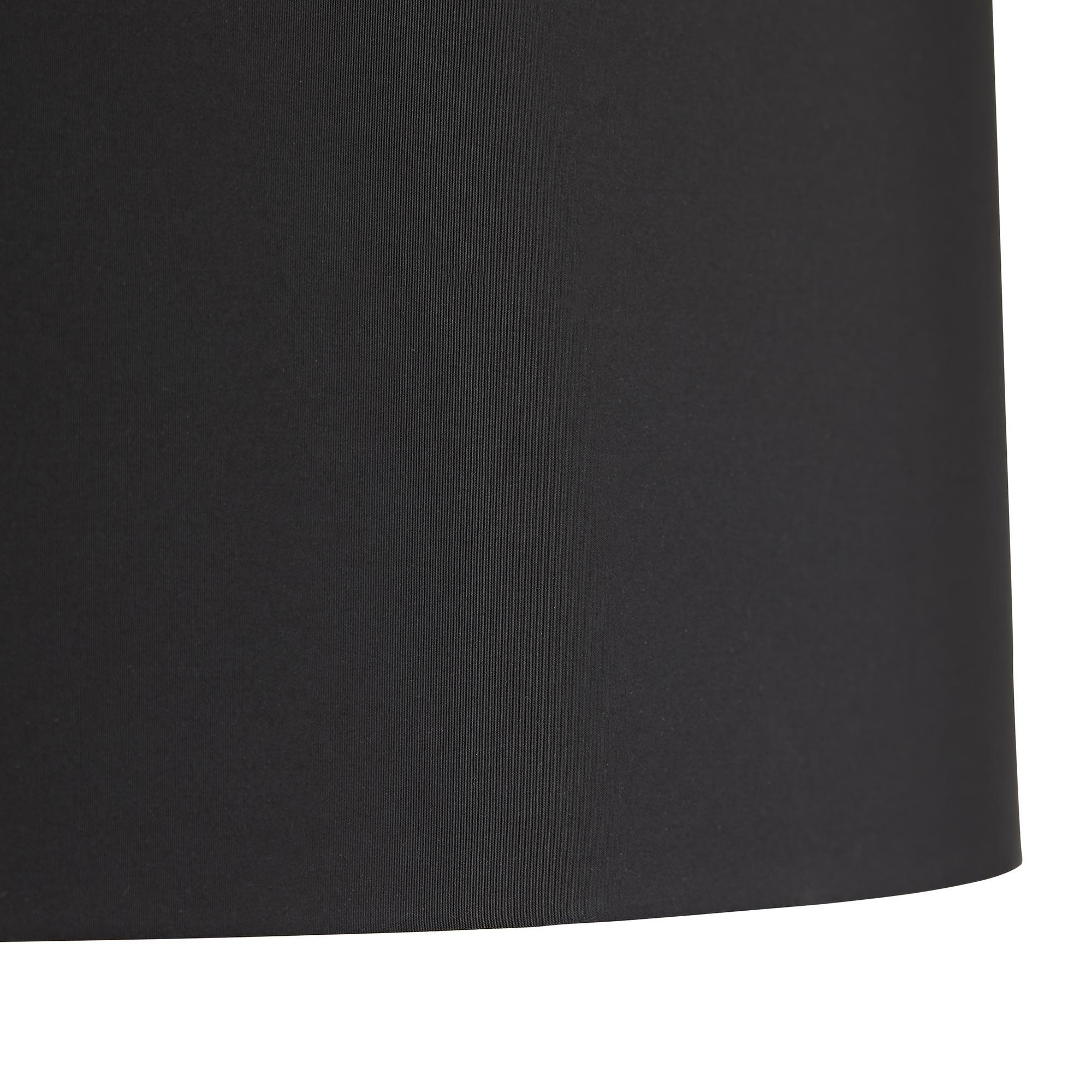 Haley Brass & Silver Floor Lamp | Black Shade