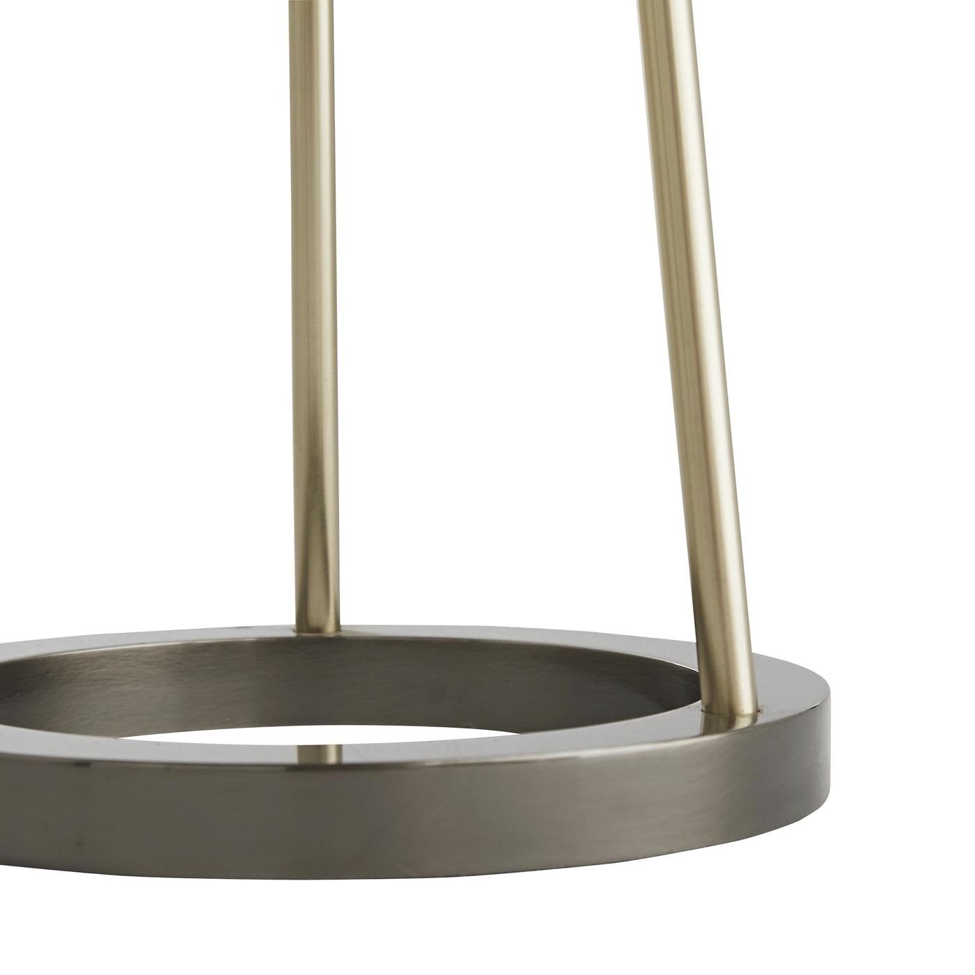 Haley Brass & Silver Floor Lamp   Ivory Shade
