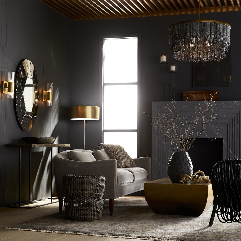 Audra Floor Lamp | Antique Brass