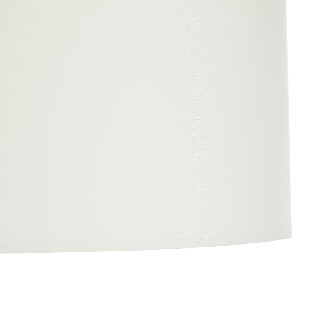 Haley Black & Brass Floor Lamp | Ivory Shade